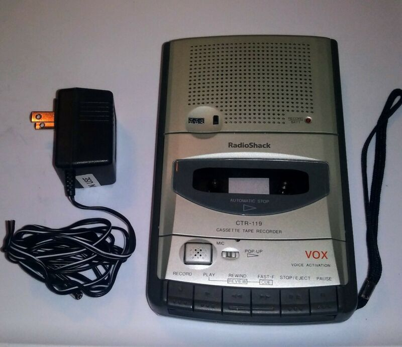 Cassette Recorder Radio Shack CTR-119 Voice Activated 14-1126