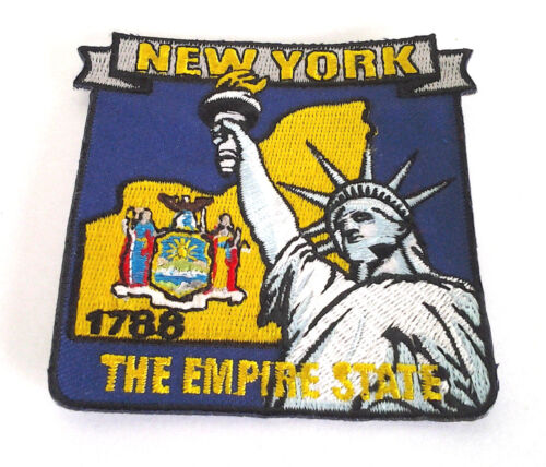 NEW YORK STATE MAP Biker Patch PM6733 EE