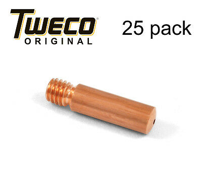 25 Ea - Genuine Tweco 11-35 Mig Welding Contact Tips Fits Tweco Mini 1 Guns