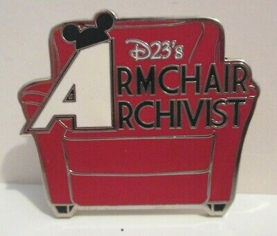 DISNEY D23 CLUB ARMCHAIR ARCHIVIST COLLECTOR SOCIETY RED CHAIR SHAPED PIN  ()