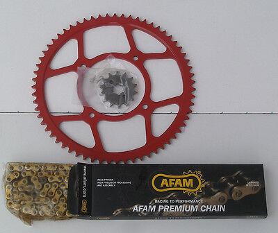Beta 125RR LC Motard Wassergek  Kettensatz/Kettenkit mit Stahl Kettenrad in Rot