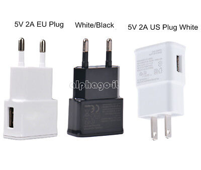 White/Black US/EU 5V 2A Plug 1 Port USB Wall Charger Fast Power Adapter Travel Usb Power Plug