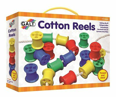 Cotton Reels Toys Kids Children Threading Stacking Activity Game Educational New