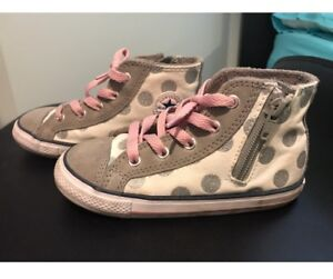 Converse high tops for girls. Size 10 toddler