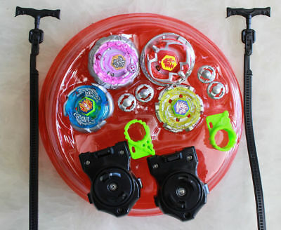 Light Up Metal Master Fusion Rapidity Fight Beyblade Battle W/ Stadium Launcher - Light Launcher