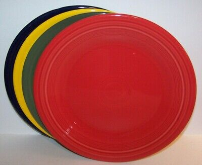 NEW SET OF 4 FIESTAWARE MIXED COLOR 10.5