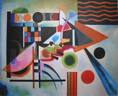 handgemalte Reproduktion d. Ölgemäldes, Kandinsky, Balance, 80x100cm