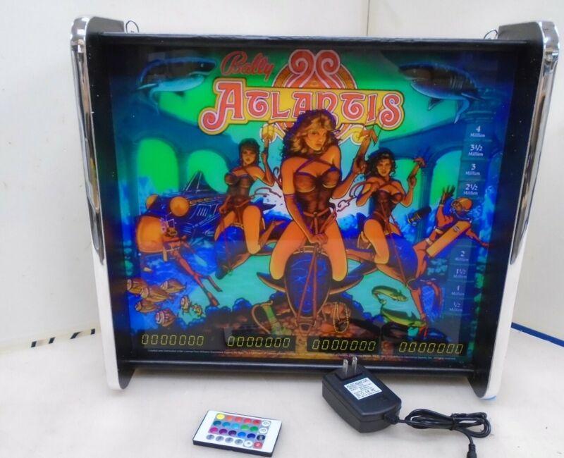 Bally Atlantis Pinball Head LED Display light box
