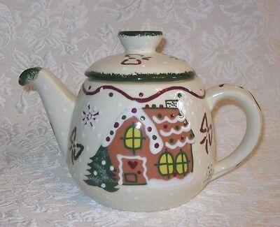 "FRANKOMA Christmas Teapot Gingerbread '99 ~ 7"" x 10"""
