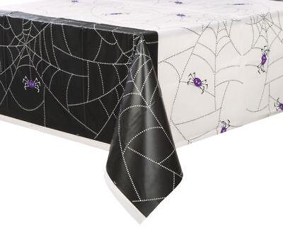 Tischdecke Spinnennetz 137 x 213 cm groß schwarz Party Halloween  Halloween  (Große Spinnennetze Halloween)
