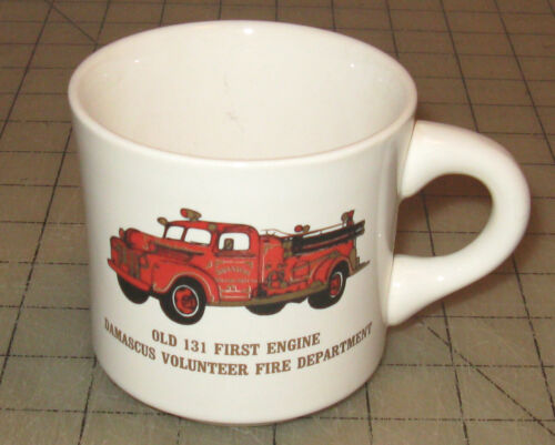 """1981 """"Old 131 First Engine"""" Commemorative Coffee Cup Damascus MD VF Department"""