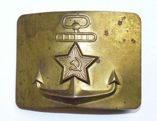 Original Military Soviet Seaman Naval Belt Buckle USSR Uniform