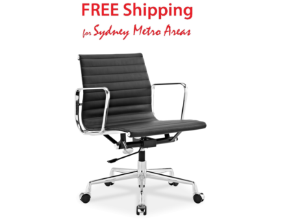 SALE - Eames Style Office Chair - Italian Leather