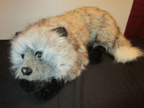 "DITZ Hen House Grey Wolf Fox 26"" Plush Therapeutic Animal Therapy HTF"