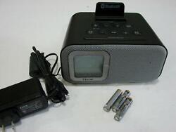 iHome IBT22A Bluetooth Dual Alarm Clock Radio- Digital FM- USB Charging - Aux In