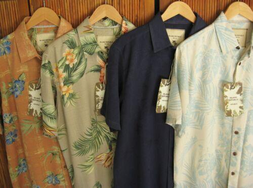 Nwt Mens Silk Camp Shirts Casual Button Down Floral Beach Aloha New M L Xl Xxl
