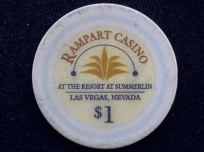 "$1 CASINO CHIP - RAMPART CASINO RESORT AT SUMMERLIN - LAS VEGAS - ""COLLECTIBLE"""