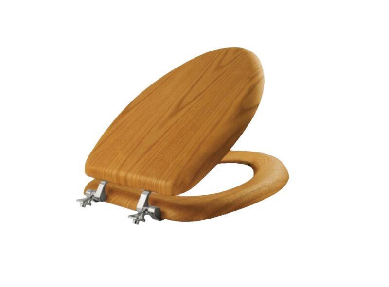 Bemis 19601CP378 Natural Reflections Toilet Seat, Natural Oak