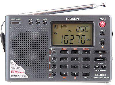 TECSUN PL380 Radio FM stereo MW SW LW World Band PLL Portable DSP ETM Receiver