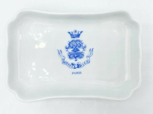 Vintage 5-Star Luxury Hotel Ritz Paris Limoges White Porcelain Trinket Soap Dish
