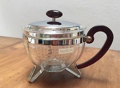 Bodum Chambord Teapot Chrome Lid Transparent Filter