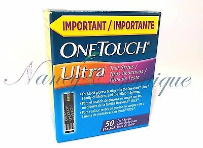 SALE BRAND NEW One Touch Ultra Diabetic Glucose 50 Test Strips Blue Exp 02/2020