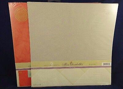 Miss Elizabeth's Paper Packs Duplex Cardstock Asian & Vellum Sheets Floral 12x12 ()