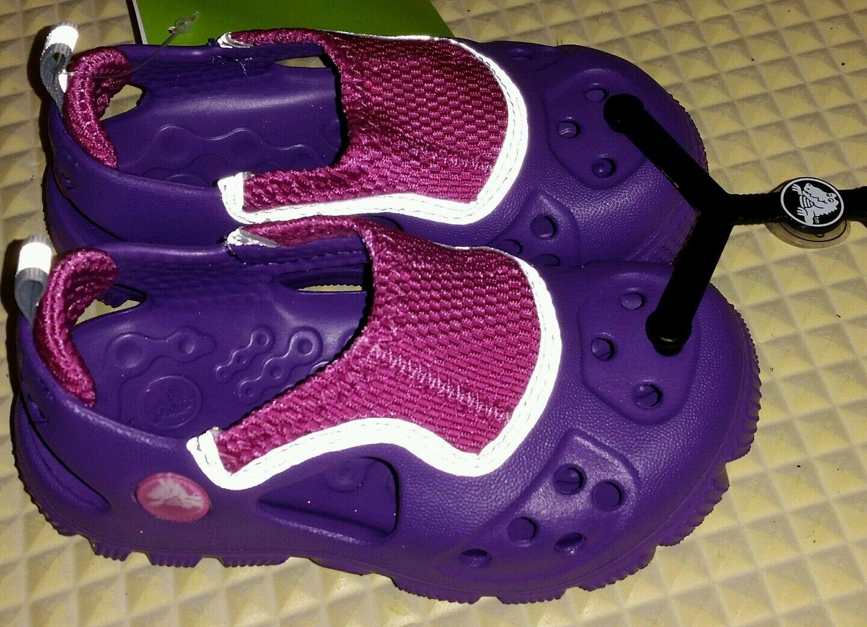 NEW Crocs Purple Pink Micah II Water Beach Shoes Girl's Sz 8/9 -  FREE SHIPPING
