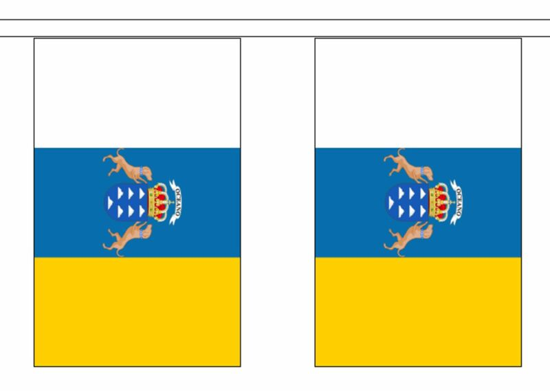 Spain Canary Islands Polyester Flag Bunting - 9m long with 30 Flags