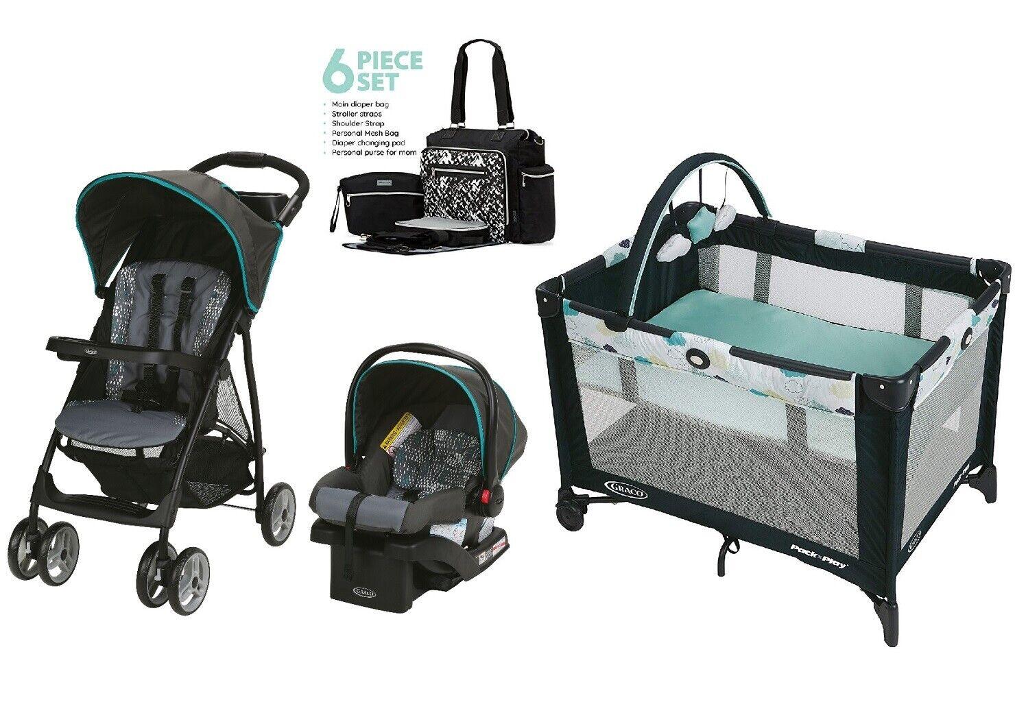 Newborn Combo Travel System Baby Stroller Car Seat Infant Pl
