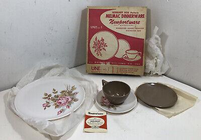 Boonton Newportware Normandy Rose Melmac Dinnerware Set