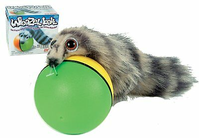 Best Cat Toys Interactive Teaser Chase Moving Weasel Roll Ball Battery - Roll Cat Toy