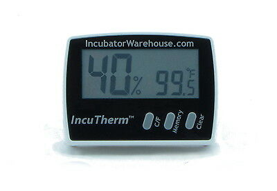 IncuTherm™ | Digital Egg Incubator Thermometer & Hygrometer (Measures Humidity)