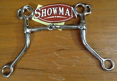 """Showman 4/"""" twist mouth ring snaffle pony bit horse tack equine 46942"""