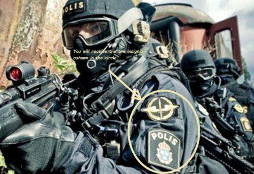 SVERIGE SWEDEN SWEDISH POLISEN POLIS PIKETEN PIKETENHETEN瑞典警察burdock 2-PATCH SET