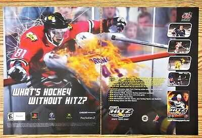 NHL Hitz 2003 Hockey Video Game PS2 Xbox Gamecube GBA Vintage Print Ad/Poster