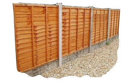 Superior Timber Fence Panels 6ft x 6ft Pack Of 7 And 8 Posts And Post Mix