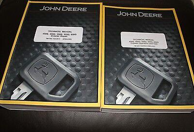 John Deere 450g 455g 550g 555g 650g Crawler Repair Operation Test Manual Set