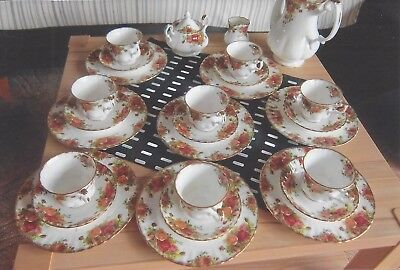 Royal Albert Old Country Roses Kaffeeservice für 8 Personen 27 Teile