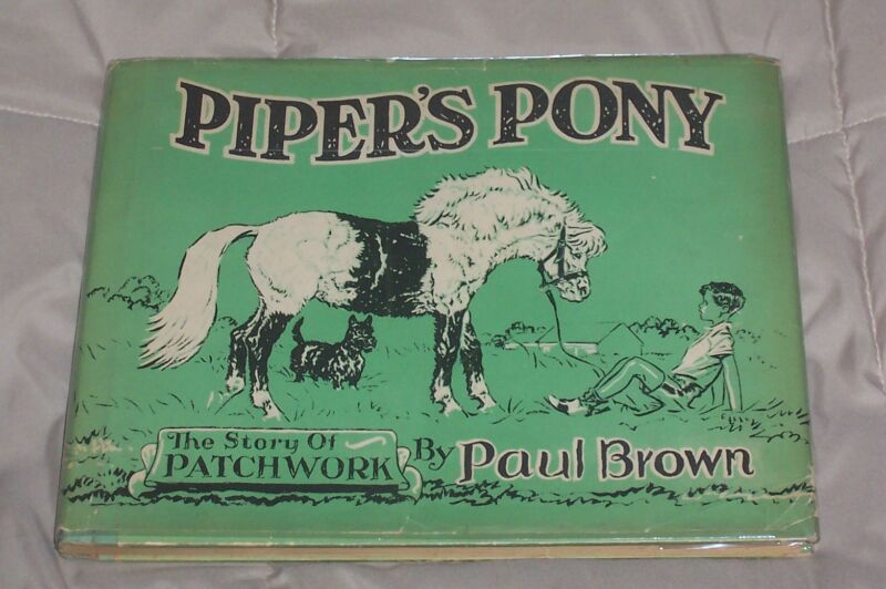 SIGNED & ORIGINAL DRAWING * PAUL BROWN Horse Book PIPER'S PONY Rare DUSTJACKET !
