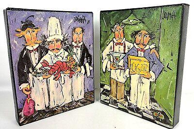 JOANNA Set Lot of 2 Art Print on Canvas 10