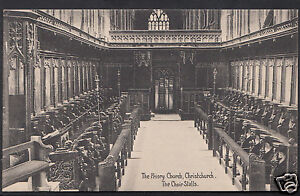Dorset-Postcard-The-Priory-Church-Christchurch-The-Choir-Stalls-A5196