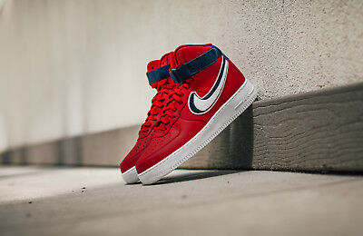 Nike Air Force 1 High '07 LV8  SZ 12 Gym Red White Blue Void
