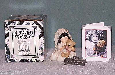 "KIM ANDERSON'S PRETTY AS A PICTURE...""LOVE BEARS ALL THINGS"" FIGURINE"