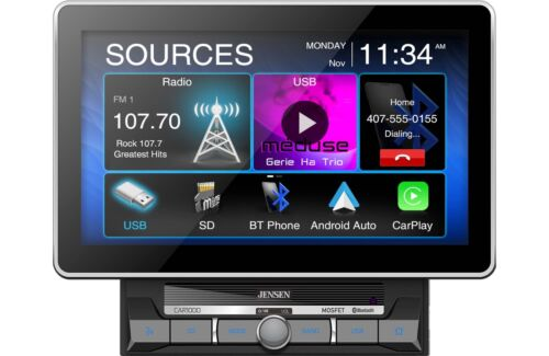 "Jensen CAR1000 10"" Touch Screen CarPlay Android Auto Media Receiver Bluetooth"