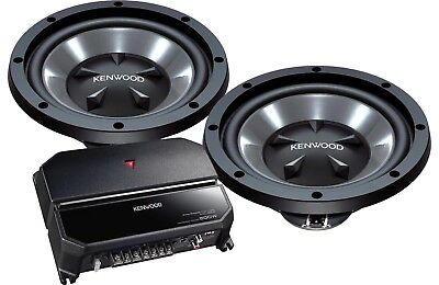 KENWOOD P-W1221 BASS PACKAGE KAC-5207 مكبر للصوت + 2 KFC-W112S 12