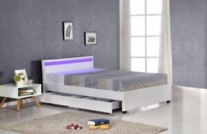 Super Popular Beds !!  LED Light Bed Frame with 4 Storage Darwers