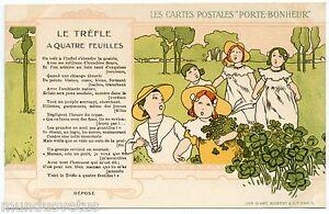 Les cartes postales porte bonheur le tr fle quatre feuilles ebay - Le houx porte bonheur ...