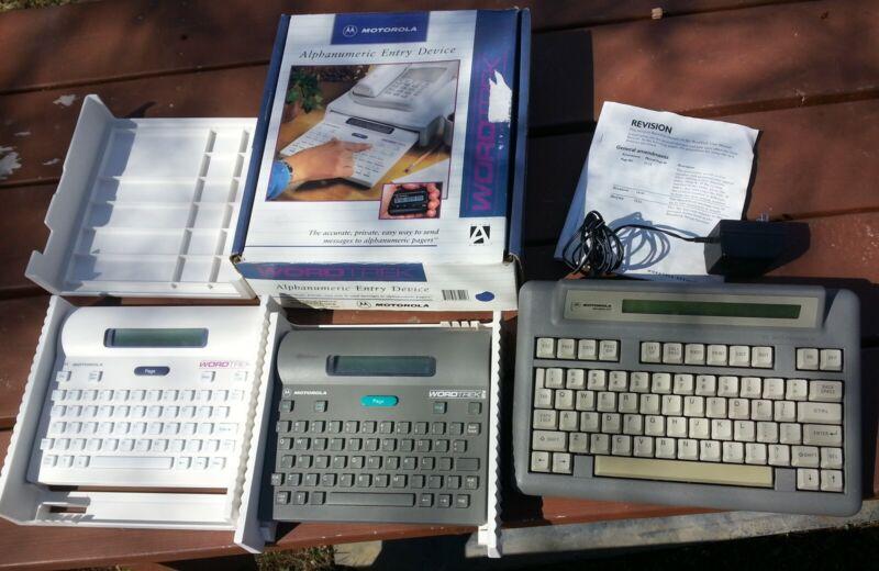 Lot of 3 Motorola WordTrek / Plus & Alphamate 250 Paging Consoles
