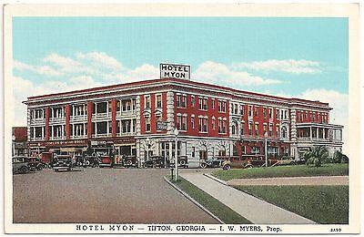 Hotel Myon In Tifton Ga Postcard